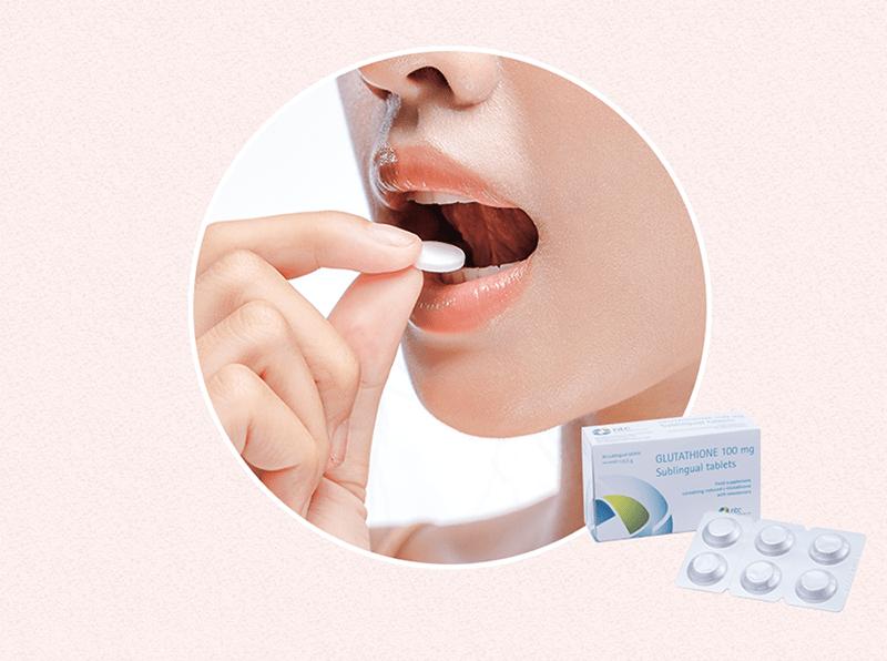Cách sử dụng viên ngậm dưới lưỡi glutathione