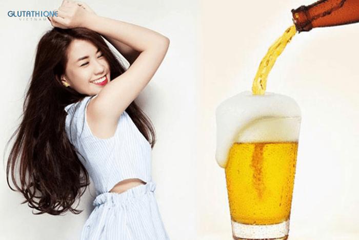Bia là nguyên liệu làm trắng da và chăm sóc sắc đẹp tuyệt vời