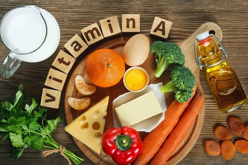 Các thực phẩm giàu vitamin A có tác dụng làm giảm sắc tố melanin
