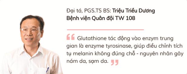 Đại tá, PGS.TS BS Triệu Triều Dương - Bệnh viện Quân đội TW 108 nói về Glutathione