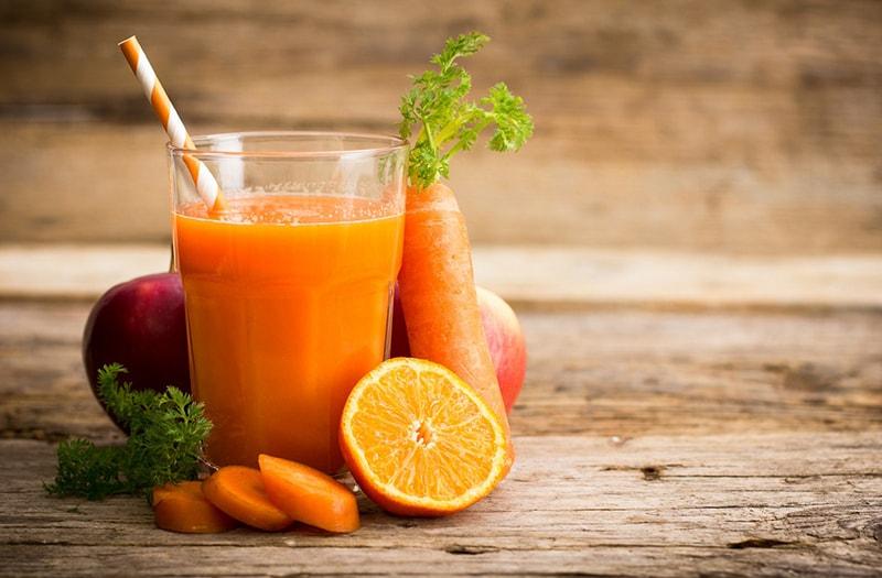 Nước cà rốt đẹp da, giảm cân hiệu quả