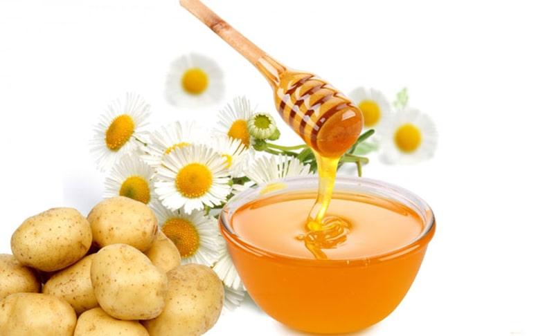 Ngừa lão hóa, giữ da trắng sáng và đều màu với khoai tây và mật ong