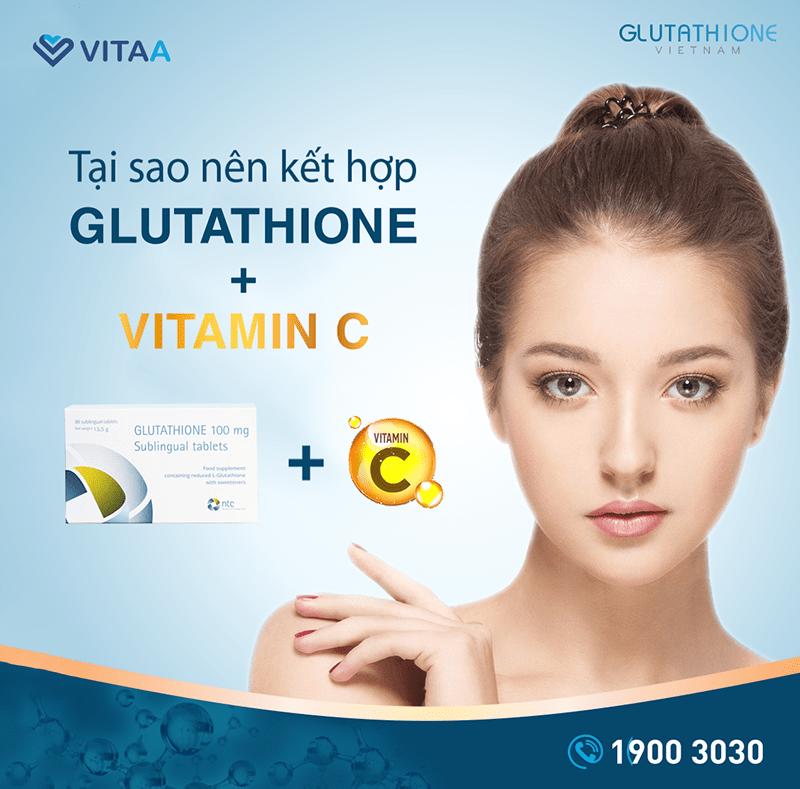 Liều lượng Vitamin C khi sử dụng cùng Glutathione